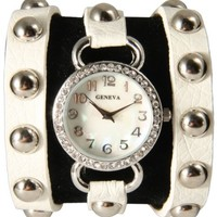 Stunning New Wrap Watch-All Studs! White