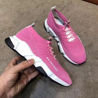 BALENCIAGA Womens Speed stretch-knit low-top sneakers