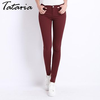 Jeans Female Denim Pants Candy Color Womens Jeans Donna Stretch Bottoms Feminino Skinny Pants For Women Trousers Tataria