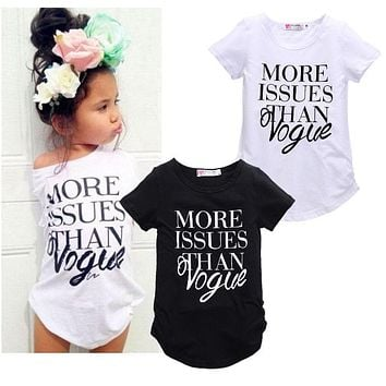 More Issues Than Vogue Top for Toddler and Girls