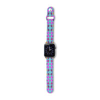 "Fernanda Sternieri ""Optical Paisley"" Purple Pink Apple Watch Strap"