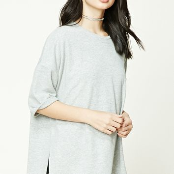 Heathered Knit High-Low Top