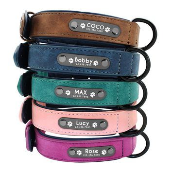 5 Color Personalized Dog/ Cat Name Plaque Collar