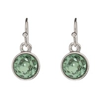 LUMEN Petite Earrings - Silver + Green