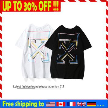 OFF WHITE mens designers t shirt luxurys t shirt cotton tee spring summer fashion trend street wear hip hop tshirt
