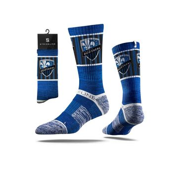 Strideline® 2.0 MLS Montreal Impact Blue - Blue–White–Black Crew Socks