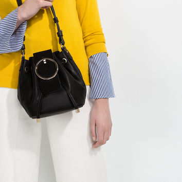 CIRCULAR FASTENING CROSS BODY BAG - View all-BAGS-WOMAN | ZARA United Kingdom
