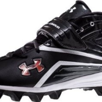 UA Crusher II Cleat by Under Armour Black w/Strap