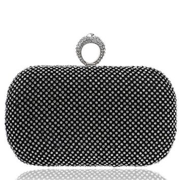 Ring Box Clutch Bag (Silver,Gold,Black)