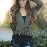 Twister Top - Olive