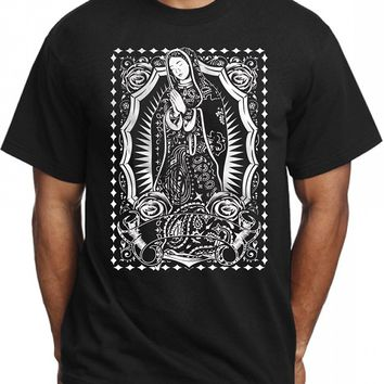 Summer Tops Tees T Shirt Virgin Mary Bandana T Shirt For Men Stylish Graphic Design Tee Hail Mary Pac Tat