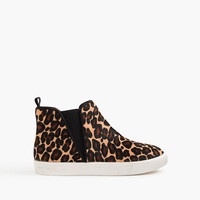 crewcuts Girls High-Top Pull-On Sneakers In Calf Hair