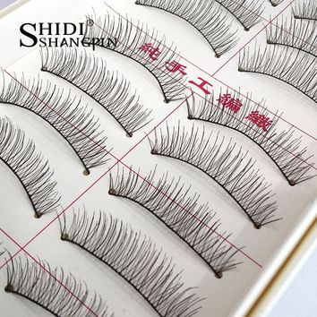 10 Pairs Handmade Natural Long False Eyelashes Makeup Maquillage Eyelashes Cilia Cilios Fake Eye Lashes Faux Cils  #217