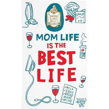 Mom Life is the Best Life Enamel Pin and Card for Lapel, Backpack, Purse, Lanyard, Jacket
