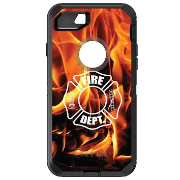 DistinctInk™ OtterBox Defender Series Case for Apple iPhone or Samsung Galaxy - Flames Fire Department