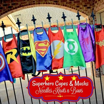 Superhero Capes, Toddlers, Kids Superhero Capes, Birthday Party Packs, Halloween Capes