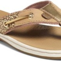 Sperry Top-Sider Seafish Thong Sandal GoldGlitter, Size 5.5M  Women's Shoes
