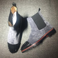 Cl Christian Louboutin Boots Style #2099 Sneakers Fashion Shoes