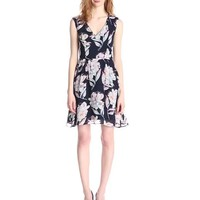 French Connection Women's Shadow Bloom Sleeveless Dress