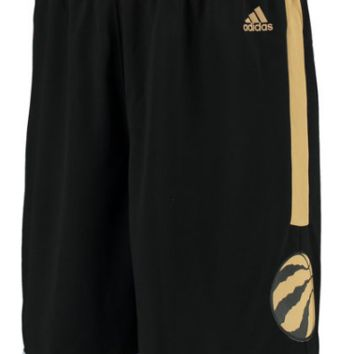 Men's Toronto Raptors Drake OVO adidas Black/Gold Swingman Shorts