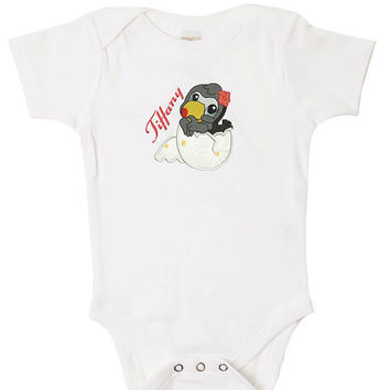 Cracked Egg Personalized Onesuit for the Baby Boy or Girl