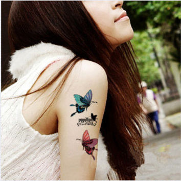 Tattoo temporary, Long lasting tattoo - butterfly tattoo 13