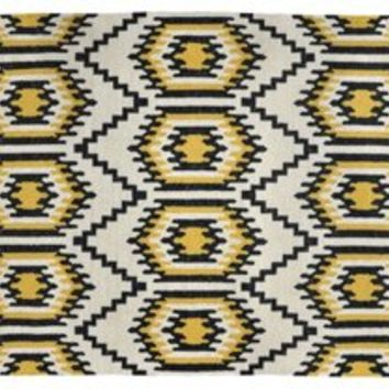 Bette Outdoor Rug, Black/Gold, Area Rugs