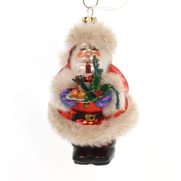 Holiday Ornaments Welcome Home Santa Glass Ornament