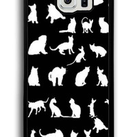 Cat Funny Character for Samsung Galaxy S6 Hard Cover Plastic