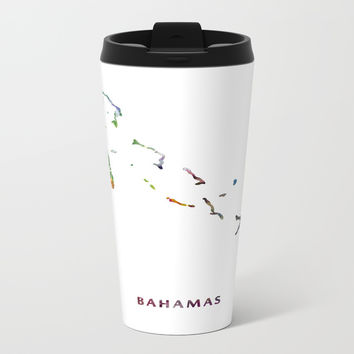 Bahamas Metal Travel Mug by monnprint