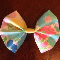 """Spring Fling"" Lilly Pulitzer fabric hair bow from Bows on Main Boutique"
