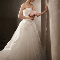 Buy Satin Faced Organza Ball Gown with Corsage Detail Style VW351026  , from  for $204.57 only in Fashionwithme.com.