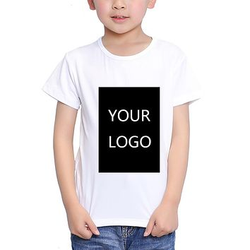 TEEHEART Customized Print T shirt 18M-10T Kid Your Own Design High Quality Send Out In 3 Days White Color