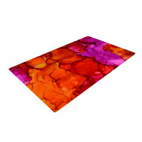 """Claire Day """"Fierce"""" Pink Orange Woven Area Rug"""