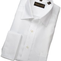 Trump Mens Donald Trump French Cuff Dress Shirt, White, 17