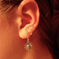 Pair of Silver Plated Ear Cuffs with Whimsical by jhammerberg