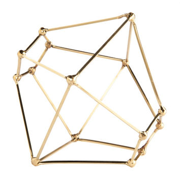 Polyhedron Brass Sculpture