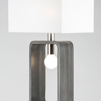 Tracey Rectangular Table Lamp Charcoal Gray - Contemporary - Table Lamps - by NOVA of California