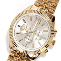 Link Ahead Gold Watch