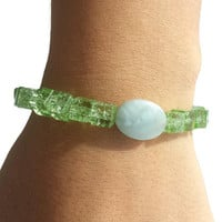 Green Jewelry Crystal Jade Beaded Boho Bracelet Gemstone Stacking Bracelet Set Stretch Bracelets Handmade Womens Gifts Best Friend Bracelets
