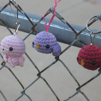 Lavender Birdie Ornament Keychain or Zipperpull