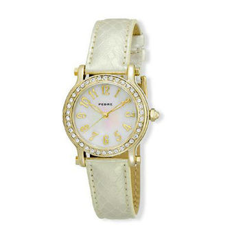 Pedre Gold Tone Watch with Mother of Pearl Dial ***CLOSEOUT***