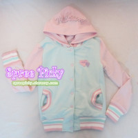 Harajuku Ice-cream green/blue lovely match jacket 2 sides of wearing free shipping SP130021 from SpreePicky