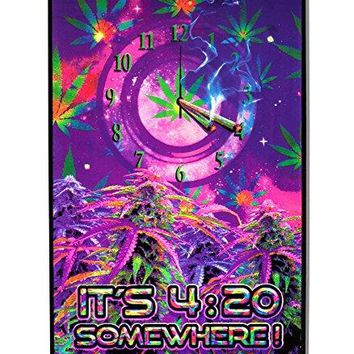 Opticz It'S 4:20 Somewhere Blacklight Poster by Joseph Charron 23 x 35in