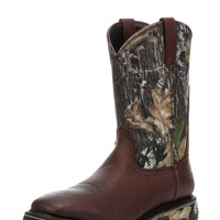 Ariat Men's Work Boots Workhog Wide Square Toe H2O, Waterproof, Oiled Brown, Mossy Oak Camo - 10010135