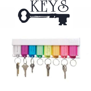 Keys wall decal - key rack sticker