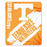 Tennessee Volunteers NCAA Light Weight Fleace Blanket (Paint Series) (50inx60in)