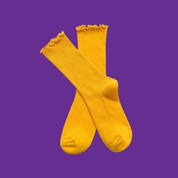 Princess Lulu Ruffle Socks | Yellow