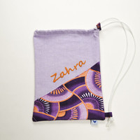 Handembroidered Drawstring Bag / Pouch / PE/ Gym Bag - personalised with name - CHOOSE your DESIGN