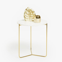 GOLDEN SIDE TABLE WITH MARBLE TOP - FURNITURE - DECORATION | Zara Home Australia